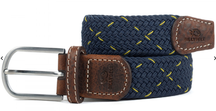 navy yellow stripe - Herenmode