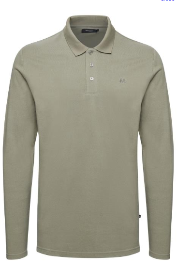 Poleo Polo olive green Ls - Herenmode