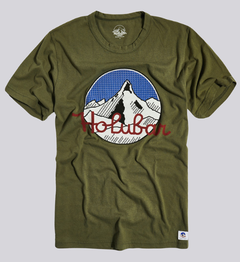 Mountain tee olive - Herenmode