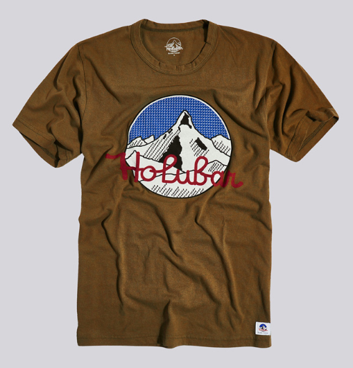 mountain tee brown - Herenmode