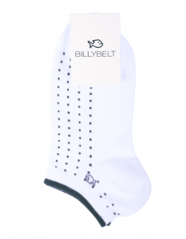 Dot sneakersock wit - Herenmode