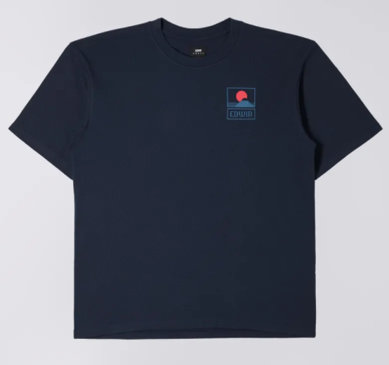 sunset tee navy - Herenmode