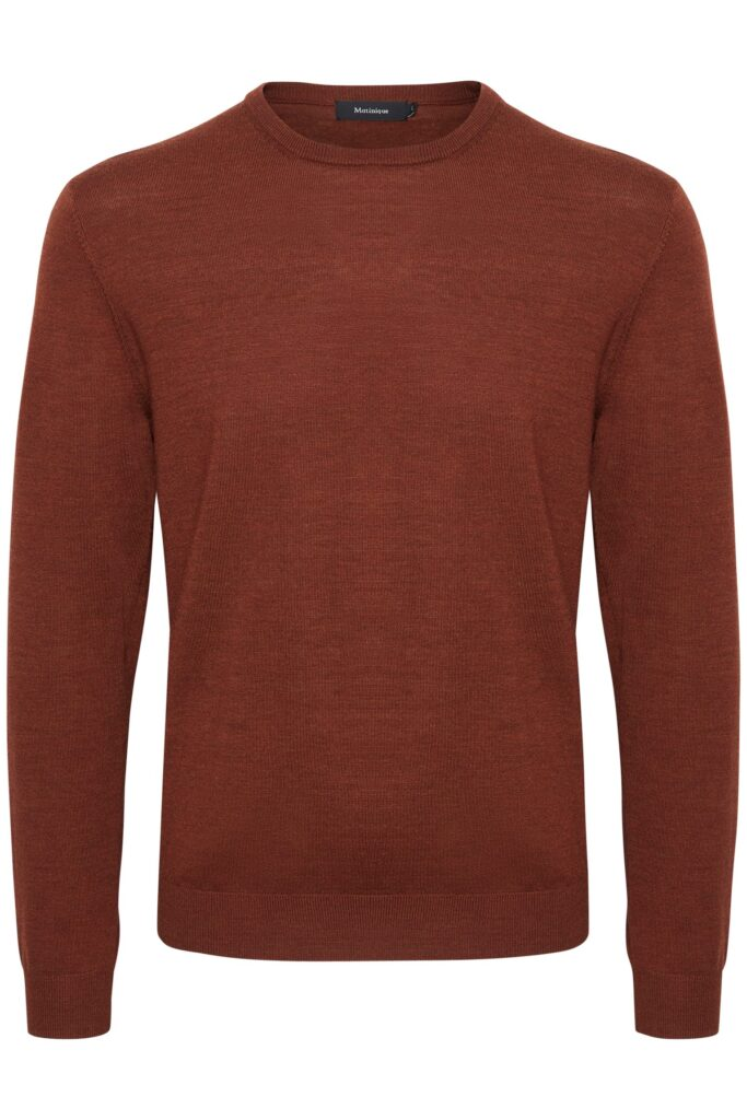 rust brown melange mamargrate pullover - Herenmode