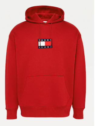 Cord badge Hoodie winered - Herenmode