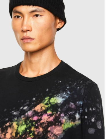 Pigment splash dyed tee - Herenmode