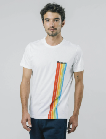 Polaroid tee white - Herenmode