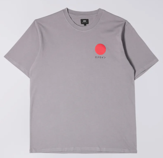 Japanese Sun Tee frost grey - Herenmode