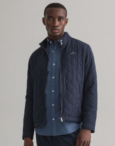 Quilted Windcheater navy - Herenmode