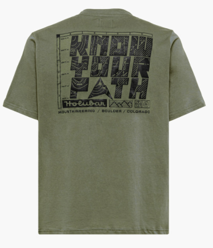 know your path backprint olive - Herenmode